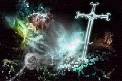 Croix de lumière illustration libre de droits