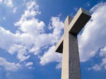 Croix de mémorial de colons de Jamestown Photos libres de droits