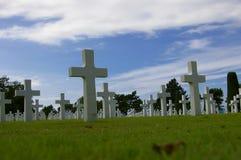 Croix de mémorial de jour J Photo libre de droits