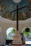 Croix de Magellan à Cebu, Philippines image libre de droits