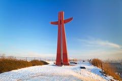 Croix de millénium à Danzig Image libre de droits