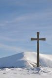 Croix de montagne photo libre de droits