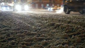 Croix de nuit de neige de route clips vidéos