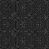 croix de papier foncée Dot Line Flower rond de contrôle de l'art 3D Image libre de droits