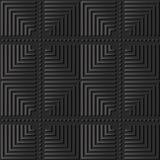 croix de papier foncée Dot Line rond de contrôle de place de l'art 3D Photos libres de droits