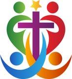 Croix de personnes Image stock