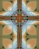 Croix de plafond d'abbaye Photos stock