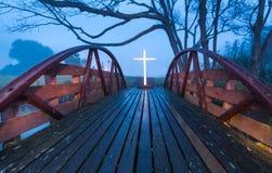 Croix de pont de salut Photo stock