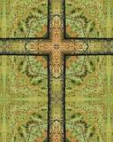 Croix de poteau de frontière de sécurité Image stock
