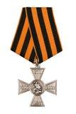 Croix de rue George de médaille Photo stock