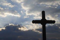 Croix de rue Kitts Image libre de droits