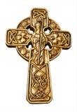 Croix de rue Patrick d'or Photo stock