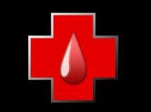 Croix de sang Images libres de droits