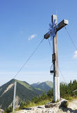 Croix de sommet Photos stock
