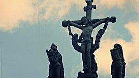 Croix de Thegonnec de saint banque de vidéos