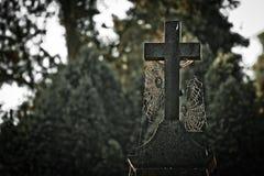 Croix de tombe Photos libres de droits