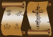 Croix de transport de Jésus Photographie stock