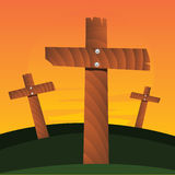 Croix de vecteur illustration de vecteur