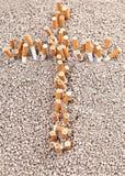 Croix des cigarettes Photo stock