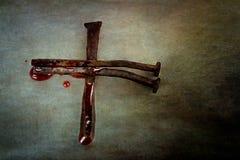 Croix des clous Image libre de droits