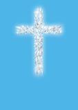 Croix des colombes blanches de vol Photo libre de droits