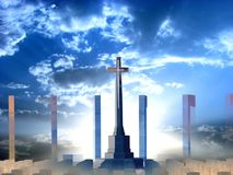 Croix divine image libre de droits