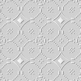 croix Dot Flower Line de courbe d'art du livre blanc 3D Photos libres de droits