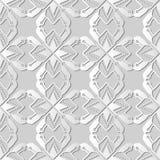 croix Dot Line de la géométrie d'étoile de polygone d'art du livre blanc 3D Photographie stock