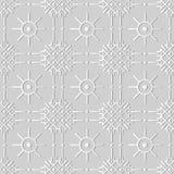 croix Dot Line Flower rond de contrôle d'art du livre blanc 3D Photo libre de droits