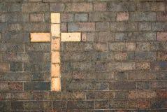 Croix du Christ établie dans un b photographie stock