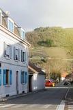 Croix du Rangen route des vins Thann village city view Stock Images