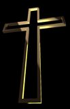 Croix en bois avec des rayons Photos stock