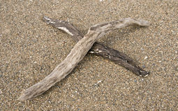 Croix en bois de chassoir photographie stock libre de droits