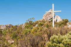 Croix en haut de Sir Lowrys Pass Images stock