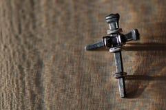 Croix en métal Photographie stock libre de droits