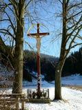 Croix en nature photographie stock