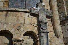 Croix en pierre à partir de 1643 Images stock
