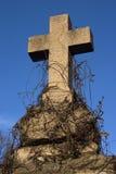 Croix en pierre Photo libre de droits
