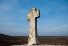 Croix en vallée Image stock