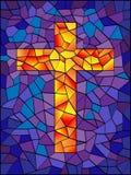 Croix en verre souillé Photo stock