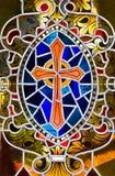 Croix en verre souillé photo libre de droits