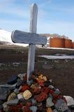 Croix et île antarctiques de déception de réservoirs de carburant Photographie stock libre de droits
