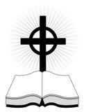 Croix et bible illustration de vecteur