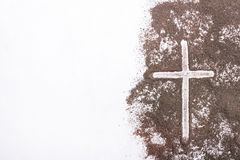 Croix et cendre - Ash Wednesday photos stock