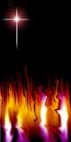Croix et flamme illustration stock
