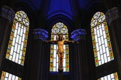 Croix et Jésus saints Image stock