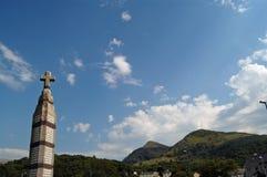Croix et montagnes Photo libre de droits