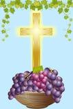Croix et raisin 4 Photos stock