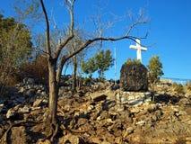 Croix et résurrection Photos libres de droits