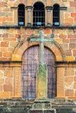 Croix et Santa Barbara Church photo stock